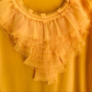 The Limited bright yellow blouse